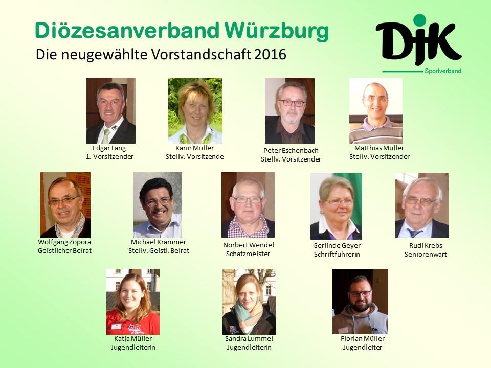 Vorstandschaft des DJK DV Würzburg